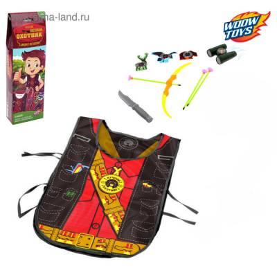 Игровой набор для мальчиков «Охотник»: жилет, лук, 3 стрелы, нож, бинокль, мишень WOOW TOYS