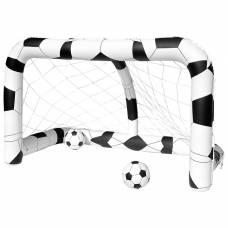 Ворота футбольные надувные (1 шт), 213 х 117 х 125 см, с 2 мячами, от 3 лет Bestway