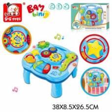 Интерактивный столик Музыкальная океания, свет, звук, эл.пит. 3*AA не вх.в комплект Наша игрушка
