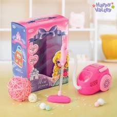 Бытовая техника «Пылесос», световые и звуковые эффекты, цвет розовый Happy Valley