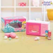 Бытовая техника «Микроволновая печь», световые и звуковые эффекты, подставка вращается, цвет розовый Happy Valley