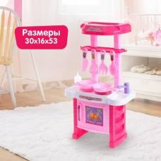Игровой модуль кухня «Готовим на пару» с аксессуарами, выпускает пар из конфорки, высота 53 см Sima-Land