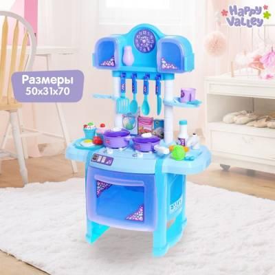 Игровой модуль «Волшебная кухня» с аксессуарами, световые и звуковые эффекты, бежит вода из крана Happy Valley