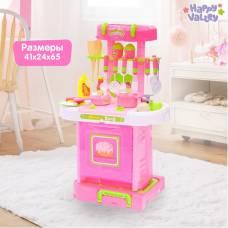 Игровой модуль кухня «Розовая мечта» с аксессуарами, складывается в чемодан, световые и звуковые эффекты Happy Valley