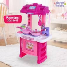 Игровой модуль «Кухня хозяюшки» с аксессуарами, световые и звуковые эффекты, высота 49 см Happy Valley