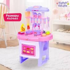 Игровой модуль кухня «Фуксия» с аксессуарами, световые и звуковые эффекты Happy Valley
