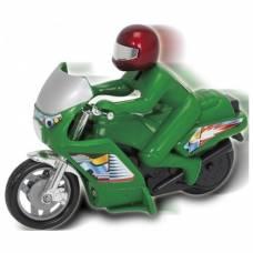 Фрикционный мотоцикл Power Bike, зеленый, 14 см Dickie