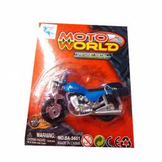 Металлический мотоцикл Moto World, синий