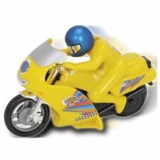 Фрикционный мотоцикл Power Bike, желтый, 14 см Dickie