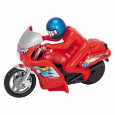 Фрикционный мотоцикл Power Bike, красный, 14 см Dickie