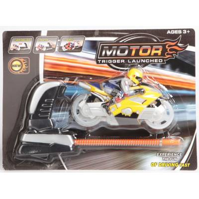 Инерционный мотоцикл с запуском Motor Tigger Launched, желтый Shenzhen Toys