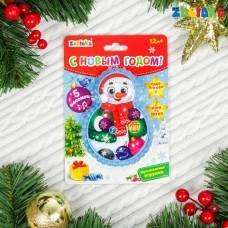 Музыкальная игрушка «Снеговичок», световые и звуковые эффекты, цвет голубой Забияка