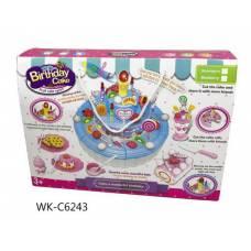 Торт праздничный в наборе с аксессуарами, световые и звуковые эффекты, 12,50х7х12,50 см Junfa Toys