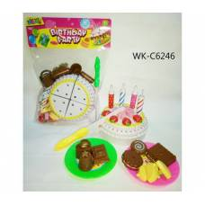 Торт праздничный в наборе с аксессуарами, 19х26х6 см Junfa Toys