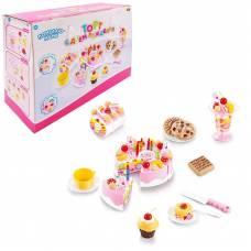 Помогаю Маме. Торт фруктовый (клубничный) в наборе с аксессуарами, 75 предметов, со световыми и звуковыми эффектами ABtoys