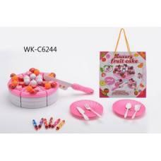 Торт фруктовый в наборе с аксессуарами, 21х10х21см Junfa Toys