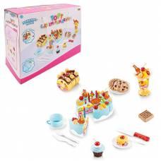 Помогаю Маме. Торт фруктовый (черничный) в наборе с аксессуарами, 75 предметов, со световыми и звуковыми эффектами ABtoys