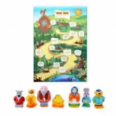 Набор резиновых игрушек «Колобок», 7 шт. ЗАО ПКФ