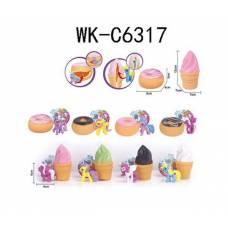 Набор мини-пони в мороженном/пончике, в ассортименте, в пакете14х5х20 см Junfa Toys