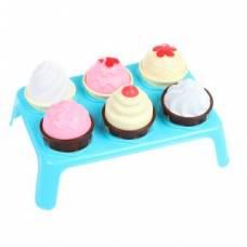 Игровой набор Лакомка (7пр.) ( мороженое 3шт., кекс 3шт., подставка) Совтехстром