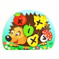 Шнуровка «Ёжик с грибочком и яблоком на спине» Мастер игрушек