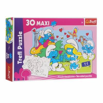 Макси-пазл The Smurfs - Приключения Смурфов, 30 элементов Trefl