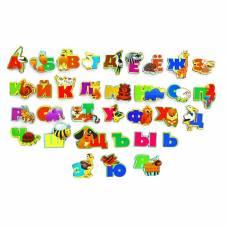 Алфавит русский «Животный мир», буква 5 × 6 см, дерево, бумага, магнитный винил Мастер игрушек