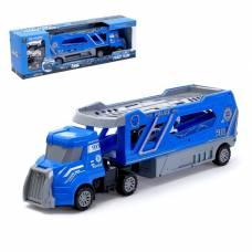 Грузовик инерционный «Полицейский автовоз» с 3 машинами Sima-Land