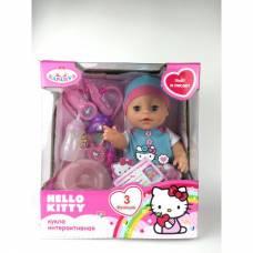 Интерактивная кукла Hello Kitty (пьет, писает, закрывает глаза), 30 см Карапуз