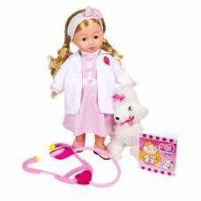Кукла Bambolina - Доктор Молли с собачкой (звук, свет), 40 см Dimian