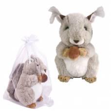 Бельчонок с орешком 20 см, игрушка мягкая в подарочном мешочке. ABtoys