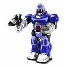 Интерактивный робот (свет, звук), синий, 25 см Junfa Toys
