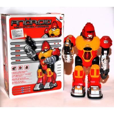 Интерактивный робот (свет, звук), желто-красный, 25 см Junfa Toys