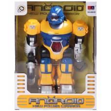 Интерактивный робот (свет, звук), желто-синий, 25 см Junfa Toys