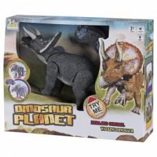 Интерактивный динозавр (ходит, свет, звук), серый  Dinosaurs Island Toys