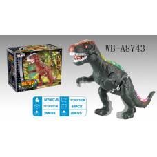 Динозавр. Движение, световые и звуковые эффекты, 19х10,3х15 см Junfa Toys