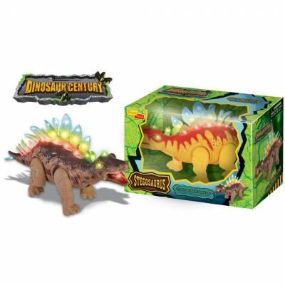 Игрушка Dinosaur Century - Стегозавр (звук, свет, движение)