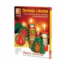 Набор для лепки свечей с золотым и серебряным воском Луч