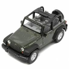 Модель машины Jeep Wrangler Rubicon, хаки, 1:31 Welly