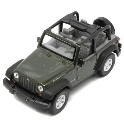 Модель машины Jeep Wrangler Rubicon, хаки, 1:31 Welly