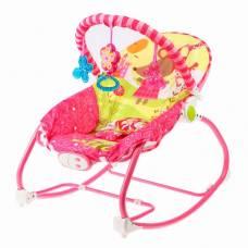 Шезлонг «Мышка», с погремушками, цвет розовый Sima-Land
