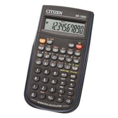 Калькулятор научный 8+2 разрядный, 84х154х19 мм, питание от батарейки, чёрный Citizen