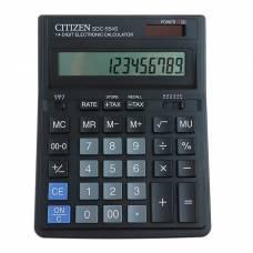 Калькулятор настольный 14-разрядный SDC-554S, 153*199*31 мм, двойное питание, черный Citizen