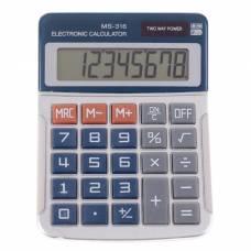 Калькулятор настольный, 8-разрядный, MS-316, двойное питание Sima-Land