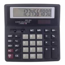 Калькулятор настольный, 12-разрядный, SDC-821, двойное питание Sima-Land