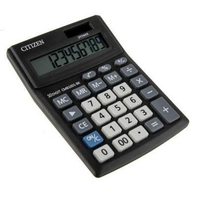 Калькулятор настольный, 10-разрядный, Correct SD-210, двойное питание (CMB1001BK) Citizen
