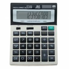 Калькулятор настольный, 12-разрядный, CT-912, двойное питание, большой Sima-Land