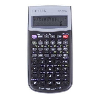 Калькулятор научный 10+2 разрядный, 80x154x14 мм, питание от батарейки, 236 формул, чёрный Citizen
