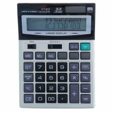 Калькулятор настольный, 12-разрядный, CT-912, двойное питание, средний Sima-Land