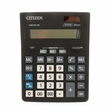 Калькулятор настольный 14-разрядный, 155х205х28 мм, двойное питание CDB1401BK Citizen